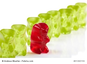 Gummy Bear Stepping out of Line
